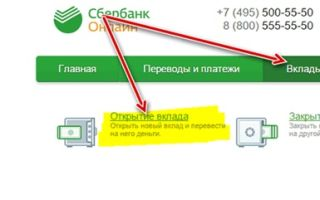 Онлайн вклады Сбербанка