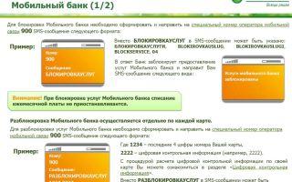 Как заблокировать карту через Мобильный банк Сбербанка