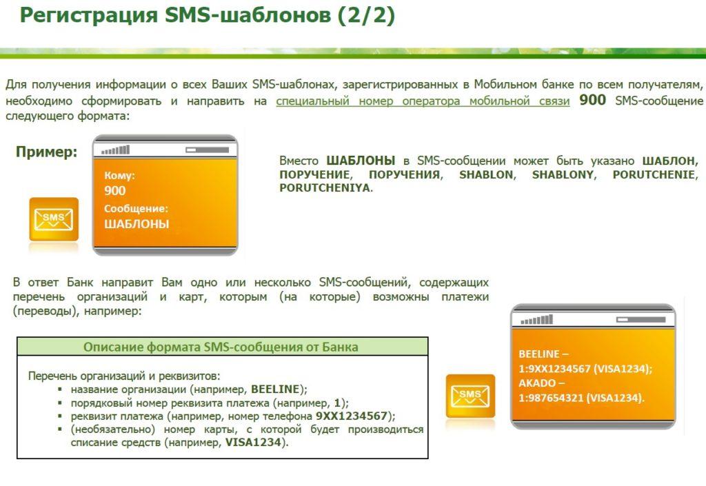 Как зарегистрировать СМС-шаблон в Мобильном банке Сбербанка
