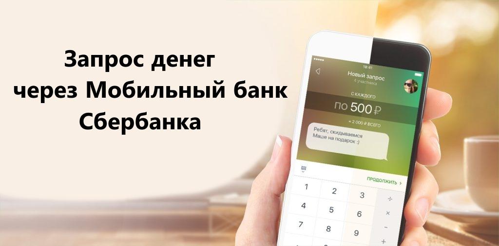 Запрос не перевод денег через Мобильный банк Сбербанка